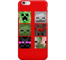 Minecraft Mobs Faces Pixel Art iPhone Case/Skin