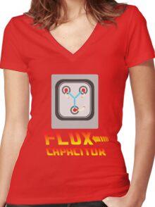 Flux Capacitor Women's Fitted V-Neck T-Shirt