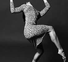 Dancer in Leopard-Print Dress by Vincent Abbey