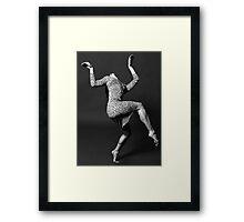 Dancer in Leopard-Print Dress Framed Print