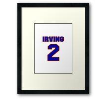 Basketball player Kyrie Irving jersey 2 Framed Print