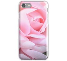Pink silky rose  iPhone Case/Skin