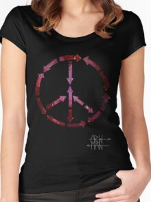 (Arrows) Peace Out (Black) Women's Fitted Scoop T-Shirt