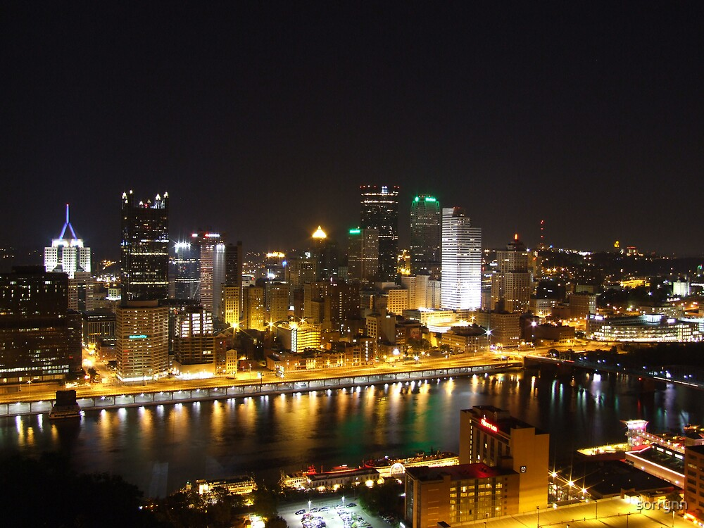Pittsburgh in the night time by sorrynn
