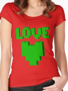 """""""LOVE"""" Women's Fitted Scoop T-Shirt"""
