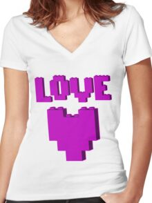 """LOVE"" Women's Fitted V-Neck T-Shirt"