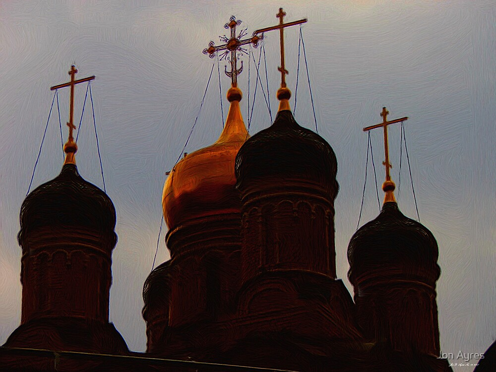 Onion Domes of Razin Street by Jon Ayres