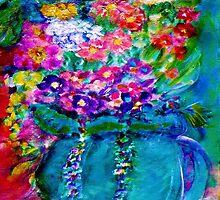 Summer Day Flowers Artist Designed Decor by innocentorigina