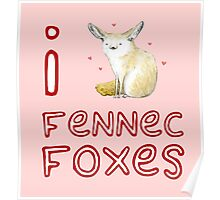 Fennec Fox Love Poster