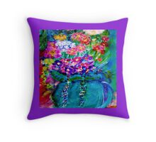 Summer Day Flowers Designer Gifts Throw Pillow