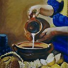 Milkmaid inspired by Vermeer by Marilyn Brown