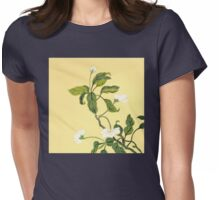 White Blossoms from Amphai Womens Fitted T-Shirt