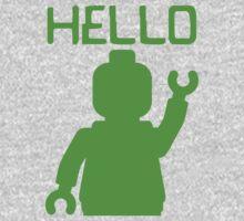 Minifig Hello One Piece - Long Sleeve