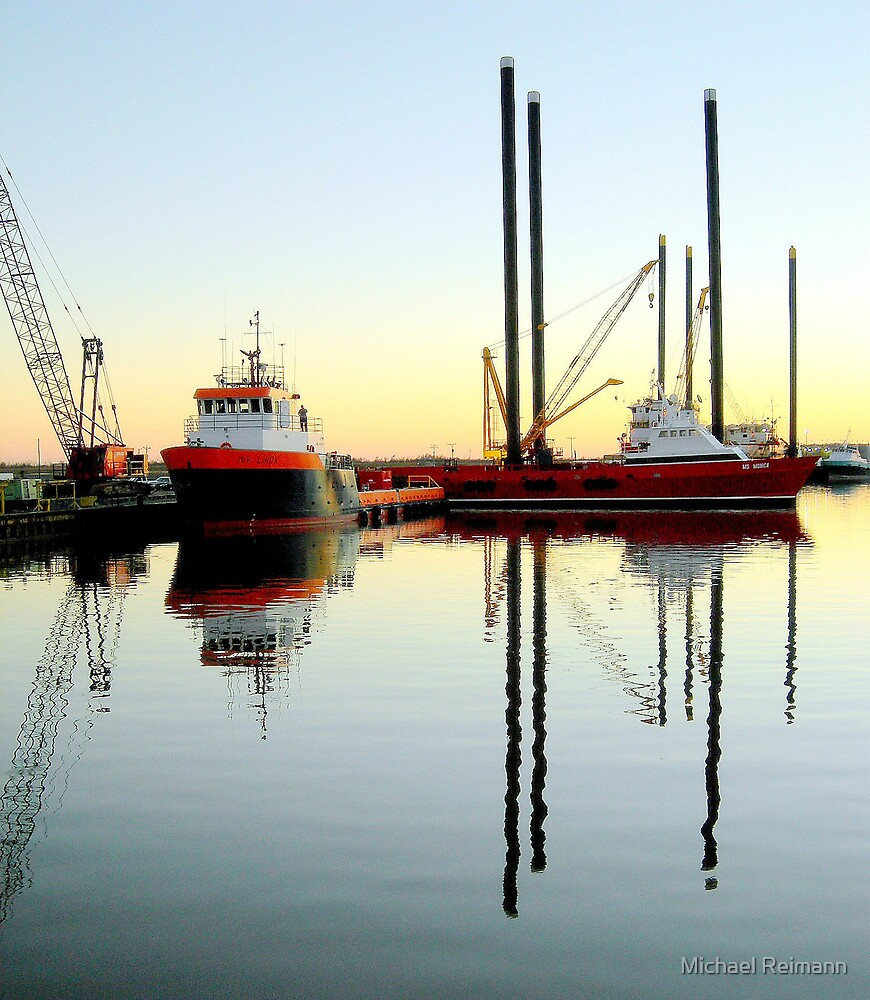 Harbor Reflections by Michael Reimann
