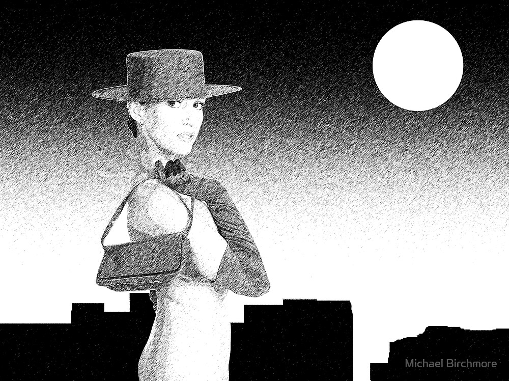 Donna and skyline by Michael Birchmore