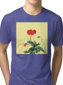 Red Poppy from Amphai Tri-blend T-Shirt
