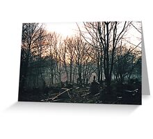 St Marys cemetary prestwich Greeting Card