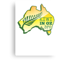 KIWI in OZ BRO! (Australia) Aussie map Metal Print