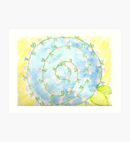 watercolor pinwheel  Art Print