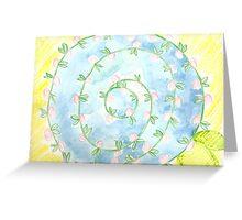 watercolor pinwheel  Greeting Card