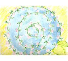 watercolor pinwheel  Photographic Print