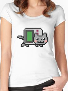 Gameboy nyan BIG!! Women's Fitted Scoop T-Shirt