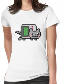 Gameboy nyan BIG!! Womens Fitted T-Shirt