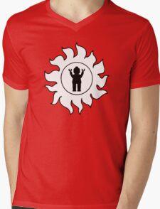 MINIFIG IN SUN DESIGN Mens V-Neck T-Shirt