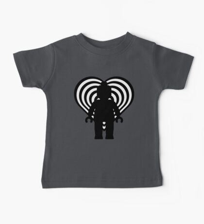 RETRO MINIFIG IN FRONT OF HEART  Baby Tee