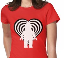 RETRO MINIFIG IN FRONT OF HEART Womens Fitted T-Shirt
