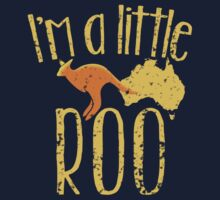 I'm a little ROO cute kangaroo with Australian map distressed version by jazzydevil