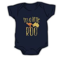 I'm a little ROO cute kangaroo with Australian map distressed version One Piece - Short Sleeve