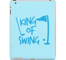 King of SWING with golf ball and club iPad Case/Skin