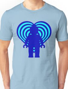 RETRO MINIFIG IN FRONT OF HEART Unisex T-Shirt