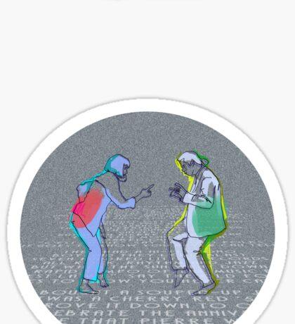 Pulp Fiction dance Sticker