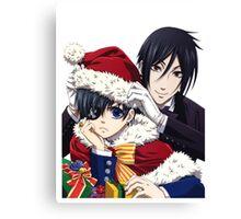 holiday black butler Canvas Print