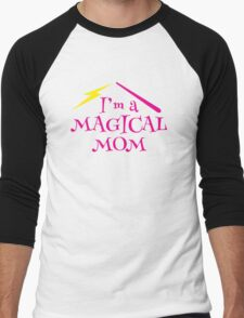 I'm a magical mom with a magic wand wizard witch Men's Baseball ¾ T-Shirt