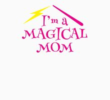 I'm a magical mom with a magic wand wizard witch Womens Fitted T-Shirt