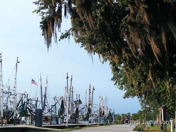 American Boat Yard by Cyndi Jamerson