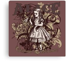 Alice In Wonderland Carnivale Style Canvas Print