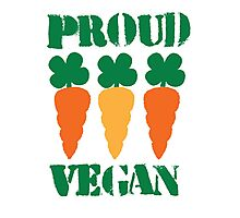 PROUD VEGAN with carrots Photographic Print