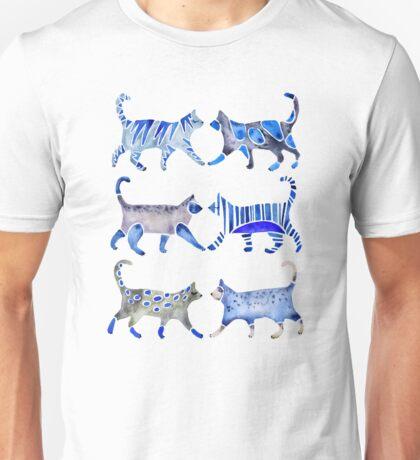 Cat Collection – Blue Palette Unisex T-Shirt