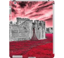 Poppies At The Tower - the very sky weeps iPad Case/Skin