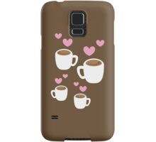 Coffee cups group with love hearts cute! Samsung Galaxy Case/Skin