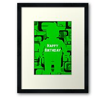 Retro Minifig Art Happy Birthday  Framed Print