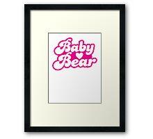 Baby bear in pink! cutie! Framed Print