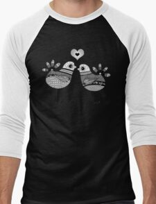 Love Birds  Men's Baseball ¾ T-Shirt