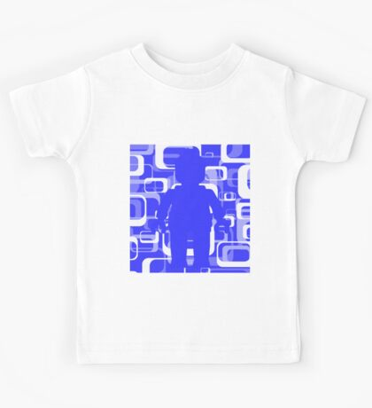 Retro Minifig Art  Kids Tee