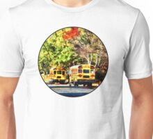 Parked School Buses Unisex T-Shirt