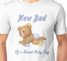 Crawling Teddy - New Dad of Boy Unisex T-Shirt